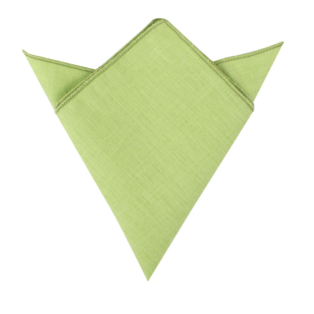 Lime Green Pocket Square Groomsmen