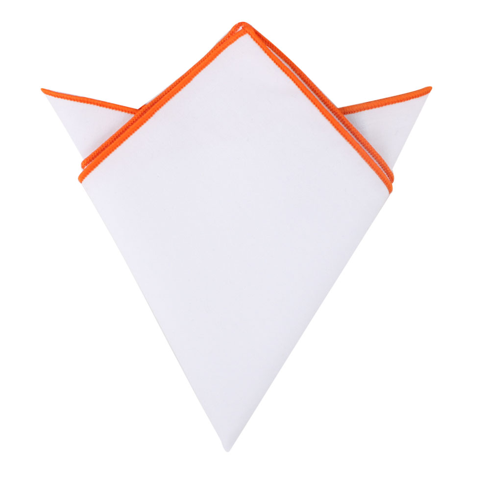 Orange Edge Pocket Square Men