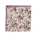 Pastel Pink Rose Floral Pocket Square Weddings