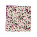 Pastel Pink Rose Floral Pocket Square Weddings