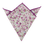 Pink Roses Floral Pocket Square for Men