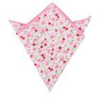 Tonal Pink Azalea Floral Pocket Square Groomsmen Weddings