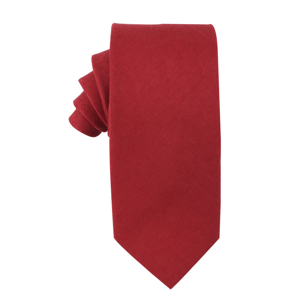 Red Tie for Groomsmen