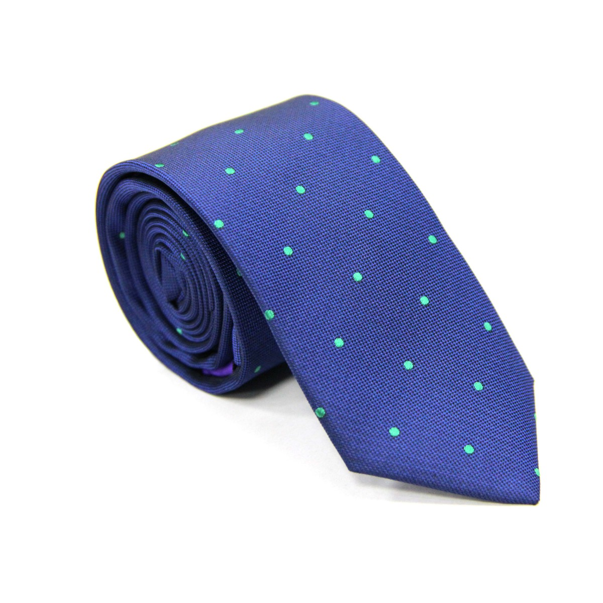 Green Polka Dot Navy Tie for Groomsmen Australia