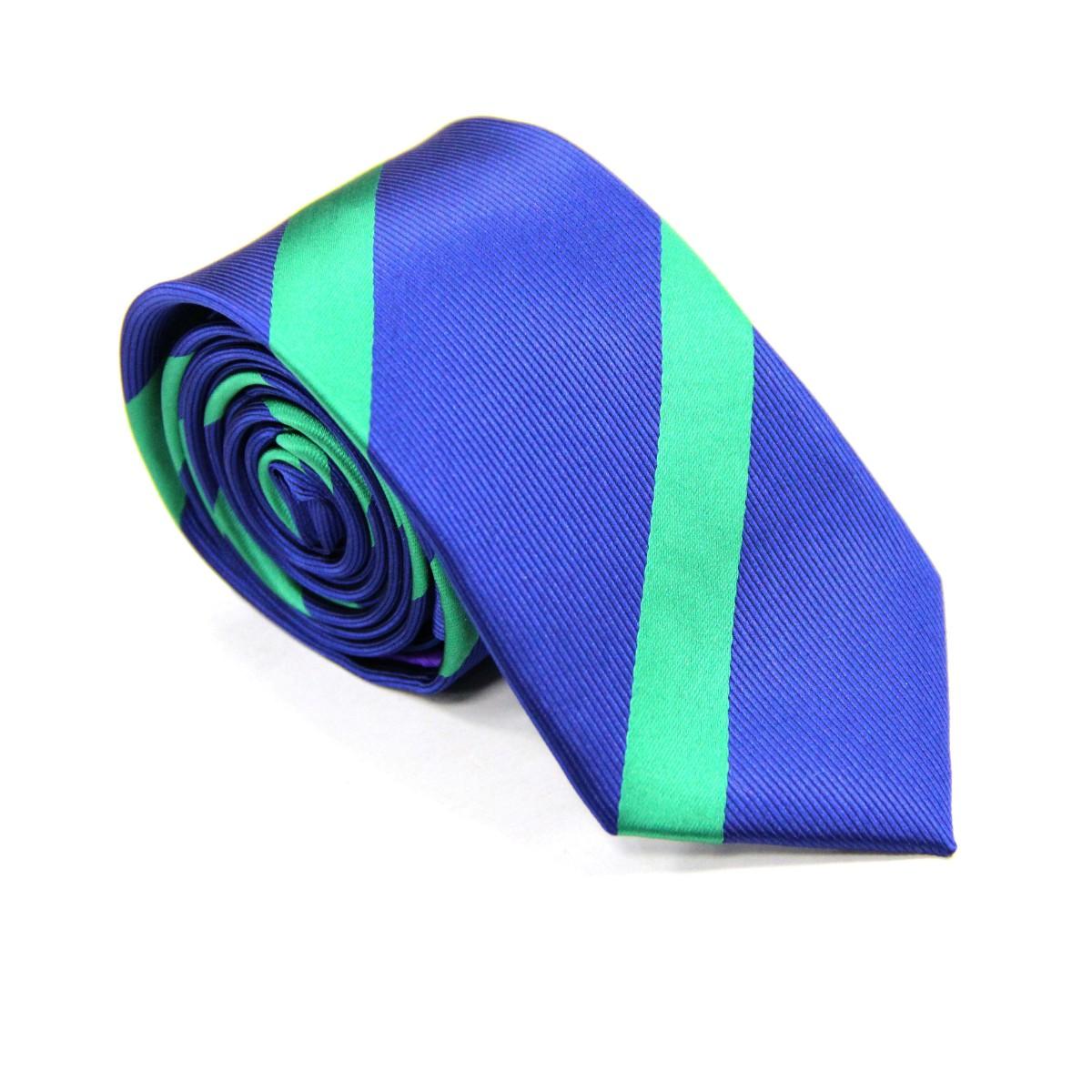 Green Stripe Navy Tie for Men Ties Online