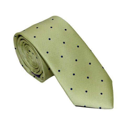 Navy Polka Dot Gold Tie for Groomsmen Australia