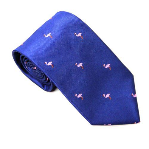Pink Flamingo Navy Tie for Men Ties