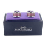 Sapphire Pink Stone Cufflinks for Men