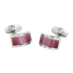 Pink Stone Cufflinks for Groomsmen