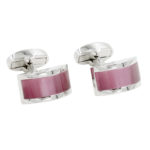 Pink Stone Cufflinks for Him
