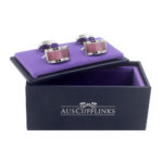 Pink Stone Cufflinks for Men