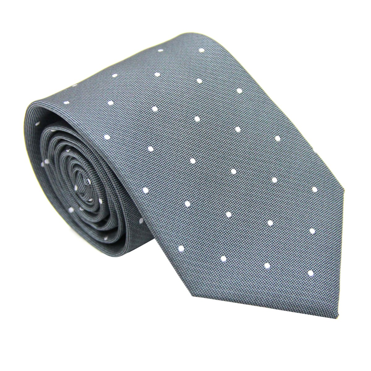 White Polka Dot Grey Tie for Groomsmen Australia
