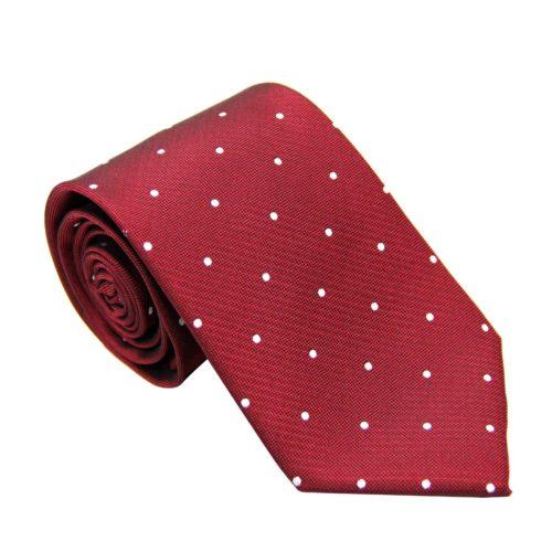 White Polka Dot Red Tie for Groomsmen Australia