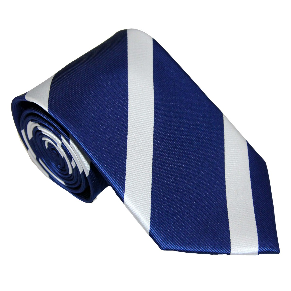 White Stripe Navy Tie for Men Ties Online