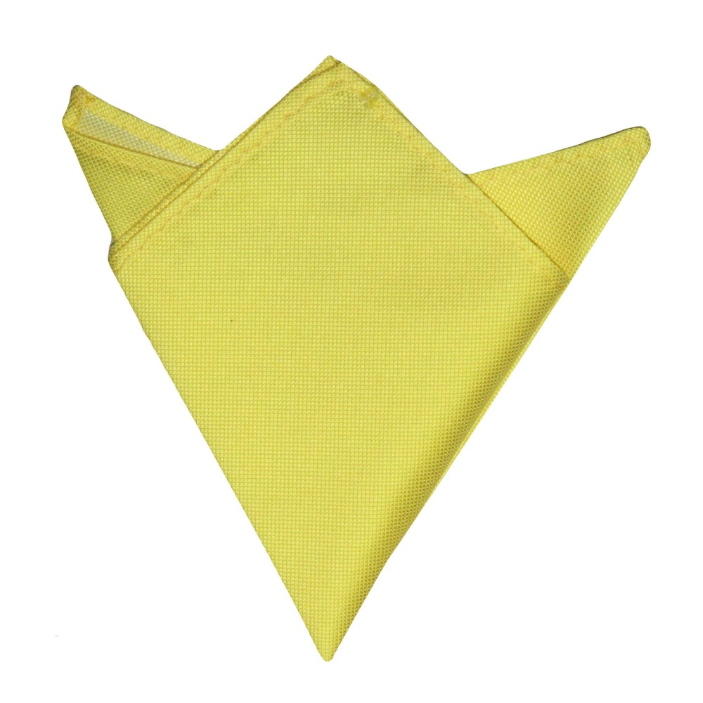 Yellow Pocket Square for Men