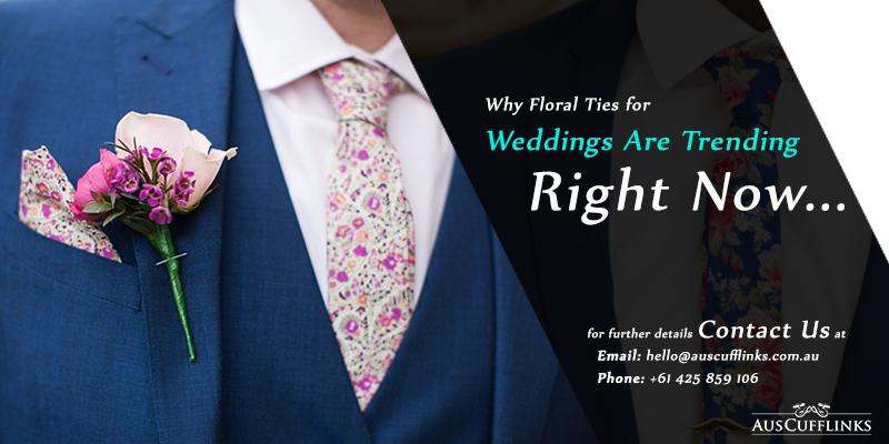 Floral Ties for Weddings