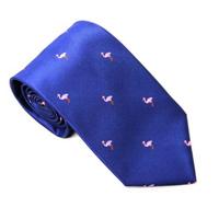 Pink Flamingo Navy Skinny Tie