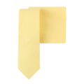 Yellow Cotton Business Tie & Pocket Square Set